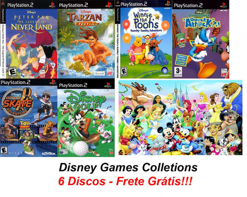 disney games collections - playstation 2 frete gratis!!!