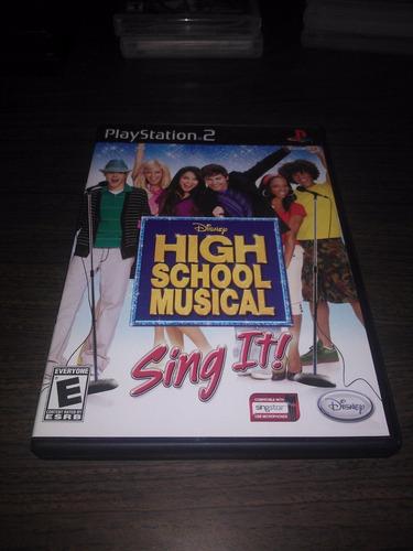 disney high school musical sing it ps2