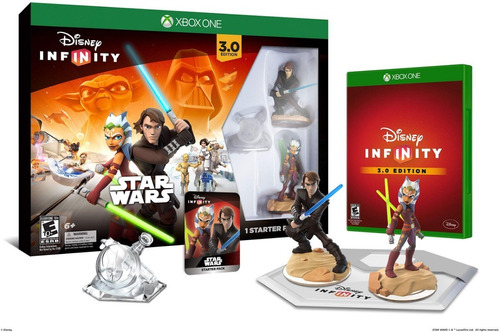 disney infinity 3.0 - kit inicial - starter pack xbox one - star wars - lacrado