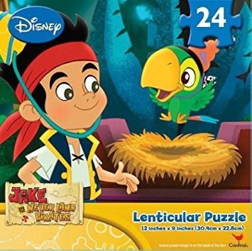 disney jake y los piratas de nunca jamás puzzle lenticular