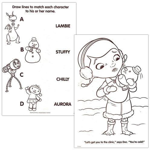 Disney Junior Doctora Juguetes Para Colorear Libro Super Set
