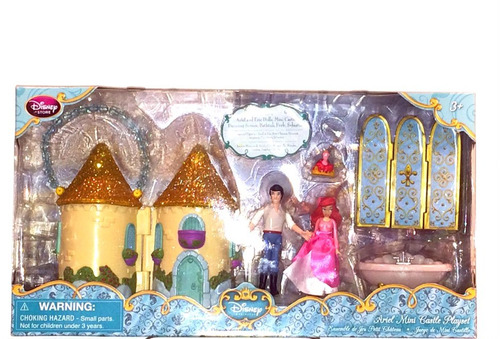 disney la sirenita set de castillo y figuras de disney store