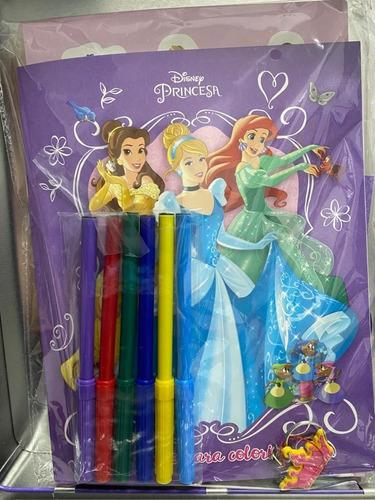 disney lata - princesas com adesivos mascaras e canetinhas