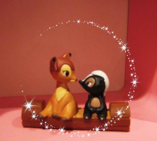 disney love coleccion figuras mickey pooh bambi (japon) tomy