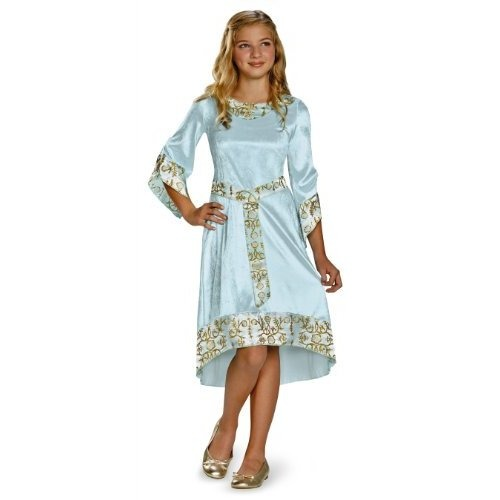 Disney Maleficent Movie Aurora Girls Blue Dress Traje