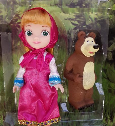 disney masha y el oso set muñeca + el oso  - fair play toys