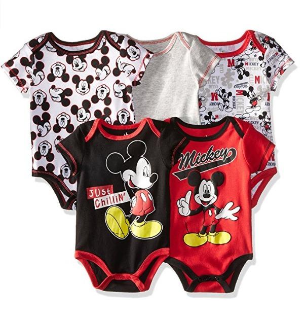 Disney Mickey 5 Bodysuit Red Ropa Bebe Niños 0-9 Meses -   119.000 ... 7e3ecc6a2ca2