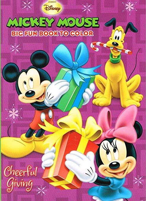 Disney Mickey Mouse Para Colorear De Navidad Libro Set (2 Li ...