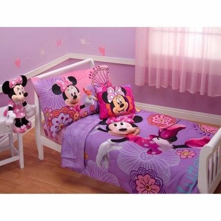 disney minnie mouse 4 pzas para cama