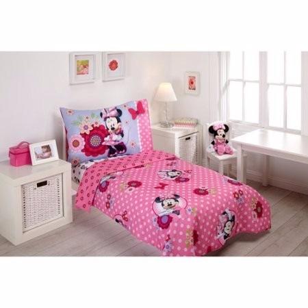 disney minnie mouse  4-pzas para la cama