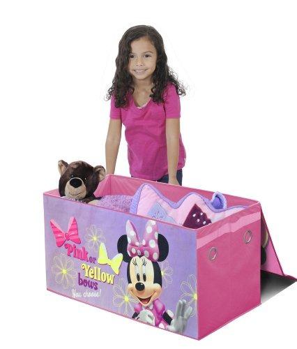 disney minnie mouse, baúl plegable para almacenamiento