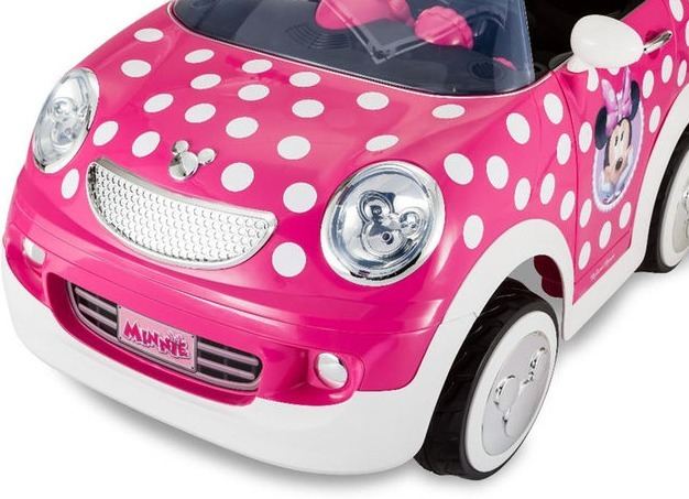 Disney Minnie Mouse Hot Rod Carro Coupe Juguete 12 Volt Nino