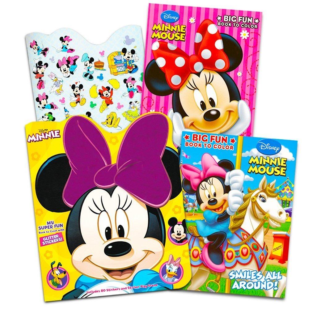 Disney Minnie Mouse Para Colorear Paquete Book - 3 Jumbo Lib ...