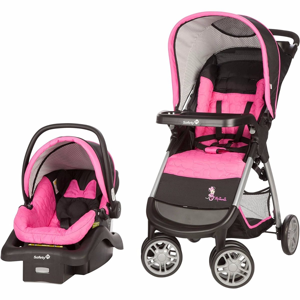 Disney Minnie Mouse Pop Amble Sistema Coche + Silla Carro - $ 1.049 ...