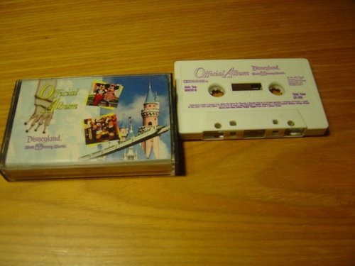 disney official album cassette  importado usa walt disney
