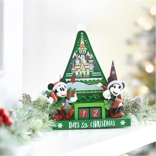 Calendario Countdown.Disney Parks Santa Mickey Y Minnie Calendario Countdown 2018