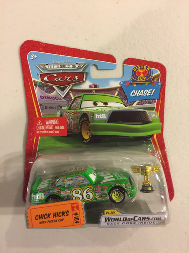 disney pixar cars chick hicks chase #104 with piston cup