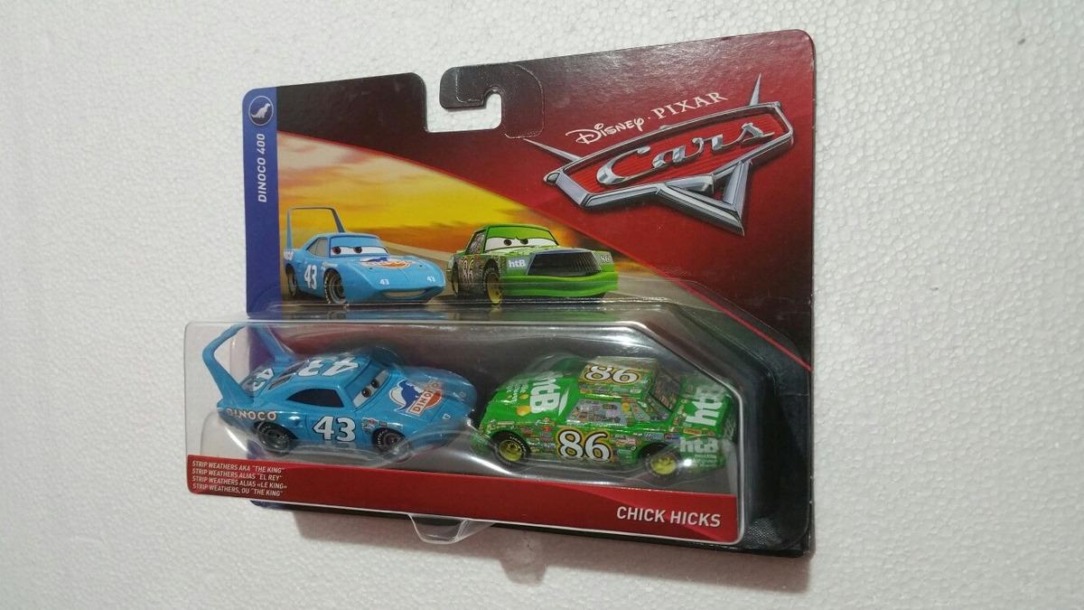 Cars 3 Dinoco 400 Strip Weathers aka The King /& Chick Hicks Diecast 2-Pack