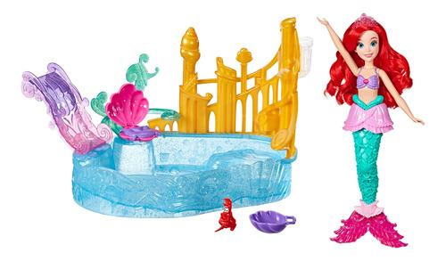 disney princesa ariel muñeca escenario en el agua