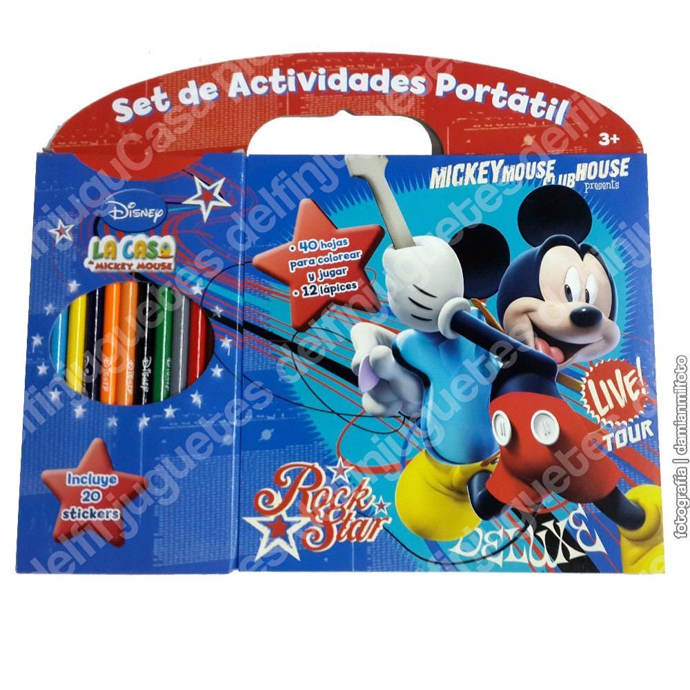 Disney Set Actividades Libro Para Pintar + 12 Lápices Sticke - $ 144 ...