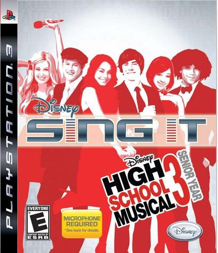 disney sing it high school musical 3 ps3 nuevo citygame