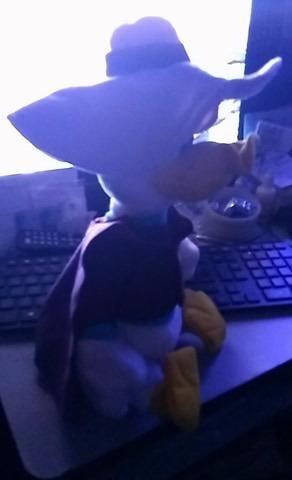 disney store ducktales 13  plush darkwing duck hat cape