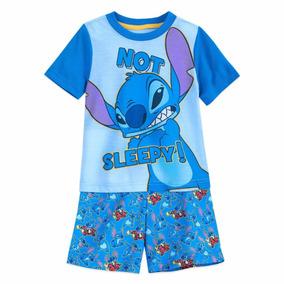 6f68ee2487 Disney Store Pijama Stitch Para Niño. Playera Y Short