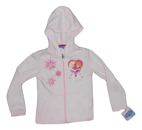 disney sudadera con gorro rosa de frozen niña talla 6 nueva