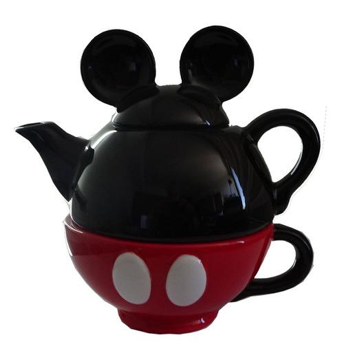disney tetera y taza mickey mouse 90 years of magic ceramica