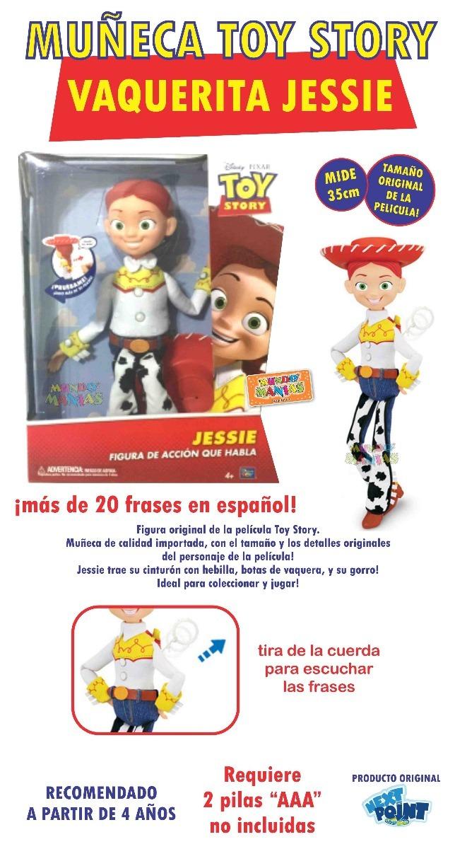 Muñeca Disney Toy Story Vaquerita Jessie 20frases Mundomania ... 5210a3e5754
