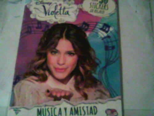 disney  violetta  musica y amistad  libro nuevo (t)