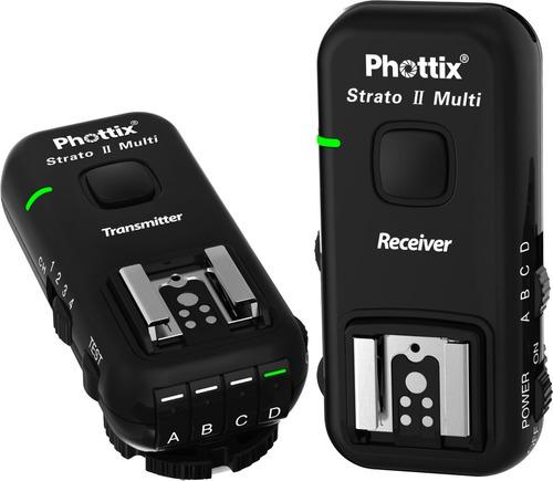 disparador radio phottix strato ii p/ nikon flash af/ ttl