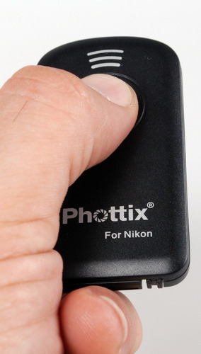 disparador remoto c/ af bulbo ir phottix p/ nikon tipo ml-l3