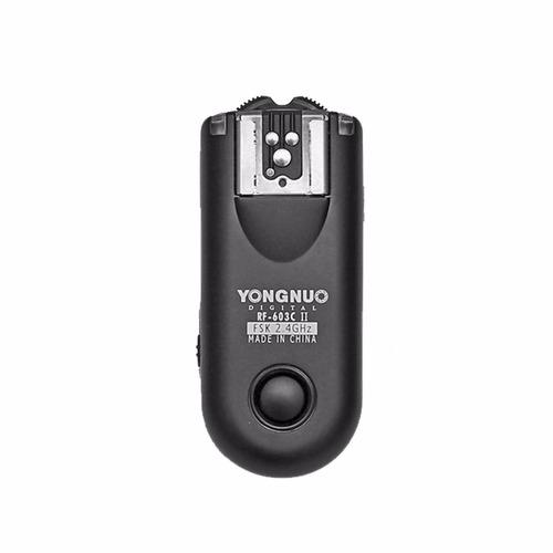 disparador trigger yongnuo rf603 ii para canon o nikon yn560