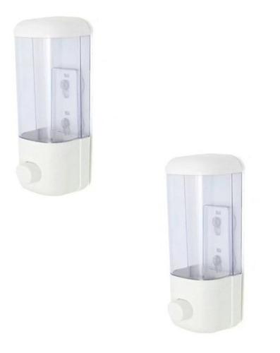 dispensador 2x1 alcohol gel desinfectante jabón manos 380ml