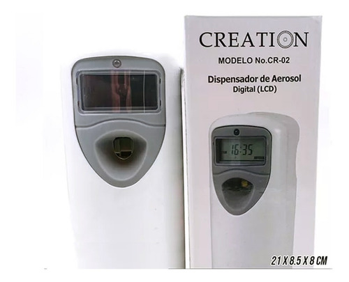 dispensador aerosol digital creation lcd ambiente perfumado