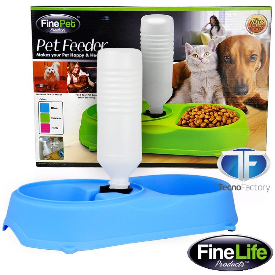 Dispensador agua y plato comida perros y gatos for Dispensador de comida para perros