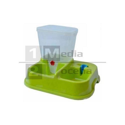 dispensador alimento y agua para perros o gatos c/regulador