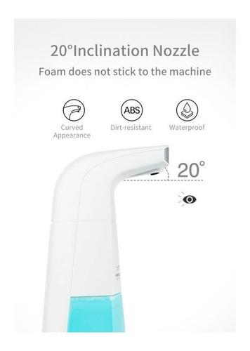 dispensador automático de sabonete com sensor. sai a espuma