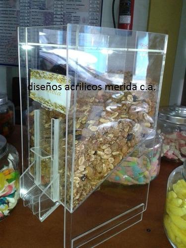 dispensador cajas acrilicas frutos secos