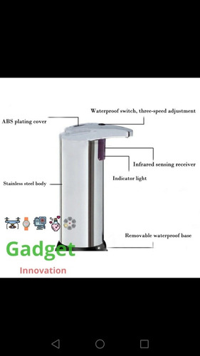 dispensador con sensor, gel antibacterial