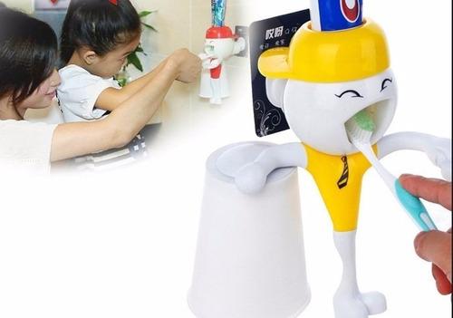 dispensador crema dental economizador  automat**todo en tv**