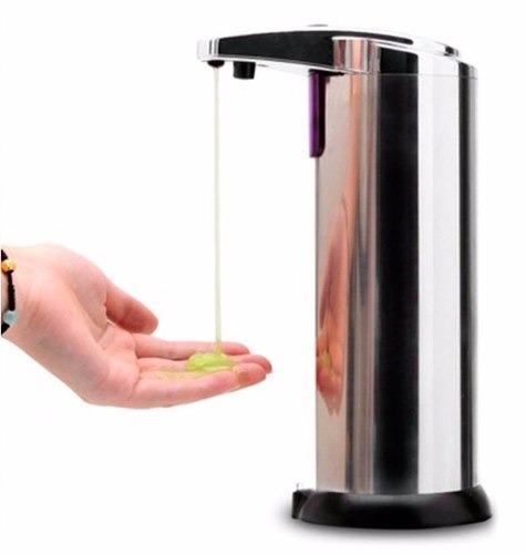 Dispensador cromado autom tico jabon gel champu digital for Dispensador de jabon para ducha