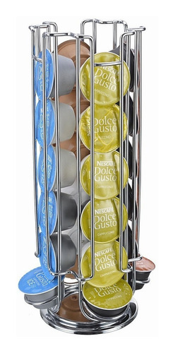 dispensador d 24 dolce gusto + 6tazas +6 cucharas tramontina