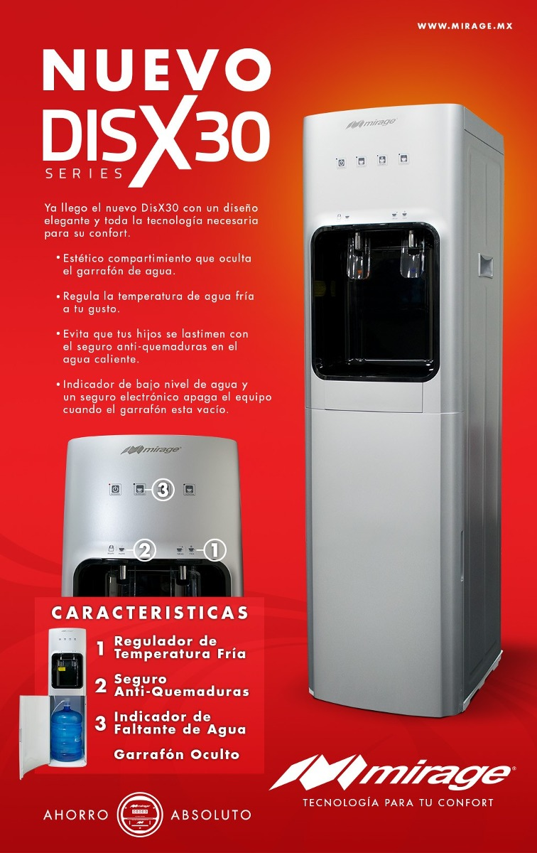 Dispensador De Agua Disx 30 Mirage Hidden Garraf 243 N Oculto