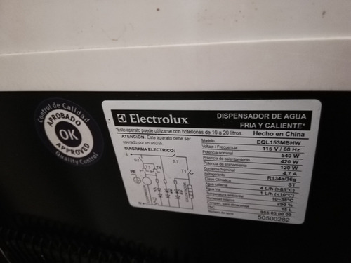dispensador de agua fria y caliente electrolux