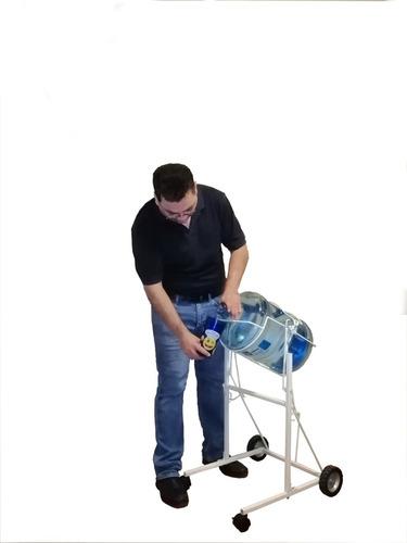 dispensador de agua metálico con palanca agarrafón