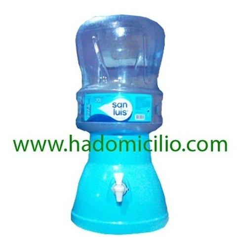 dispensador de agua mineral celeste para bidon 20 lt.