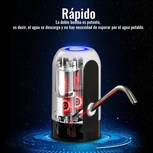dispensador de agua usb automático bomba recargable
