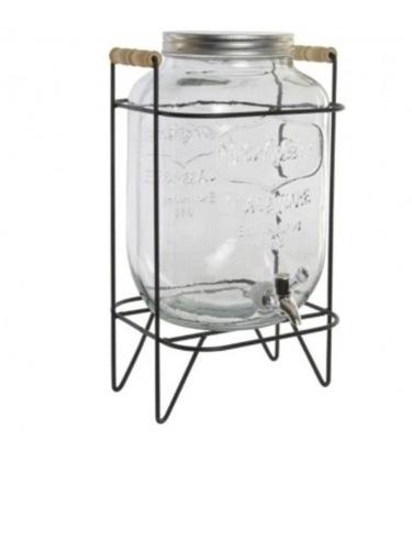dispensador de bebidas 8 litros en vidrio + base